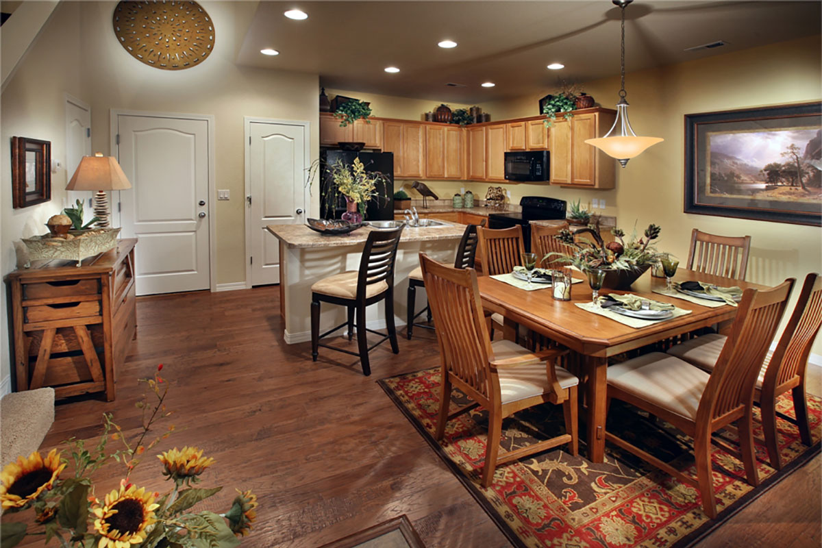 GOLD HILL PLAN 1 Dining Kitchen