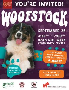 Woofstock 2019 @ Gold Hill Mesa Community Center